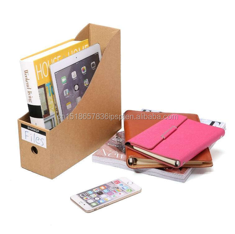 File Organizer Kraft Paper File Holder Office Supplies Magazine Holder Desk Storage Organizer