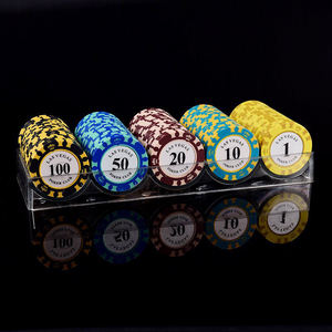 High Quality Customized Cheap Crown Clay Chip Poker Set Wholesale
