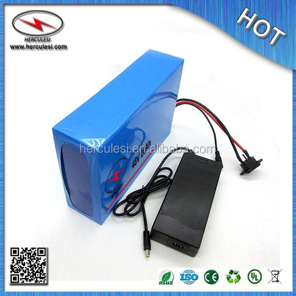 48 volt electric bicycle battery / 48 volt lithium ion battery / 1000W Lithium Ion Battery 48V 20AH with PVC ,BMS
