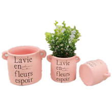Hot sale outdoor garden and home  decor mini terracota flower pot