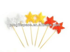 2018 hot sell Eco friendly Felt Star cupcake toppers - baby shower birthday party decor made in China