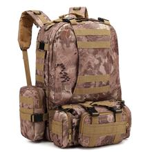 600D outdoor camouflage hiking  camping molle waterproof 3 days pack military tactical backpack