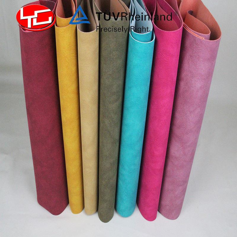 Sensación suave yangbuck pu tela de cuero para todo tipo zapatos guantes fabricación