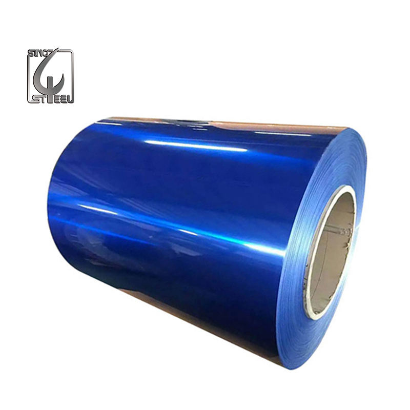 Color Coated Aluminum Sheet Coil Roll with Black White RAL Chart Color