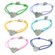 2018 New Heart Charm Stainless Steel Adjustable Cord Bracelet