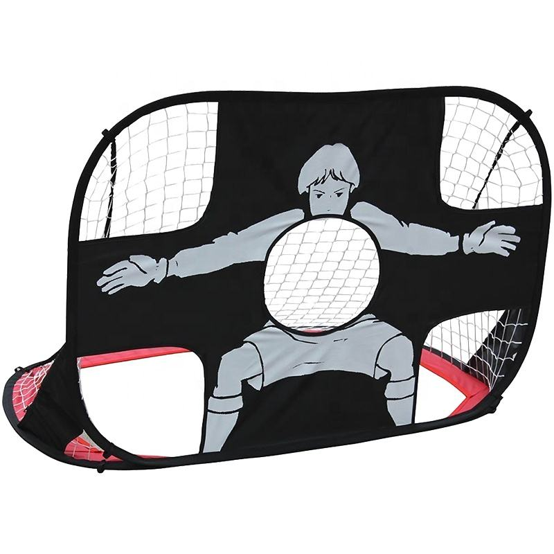 Pop Up Soccer Goals target Portable mini football goal 2-in-1 Pop Up Nets with target Carry Bag for kids training