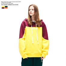 OEM ODM service young`s stylish hooded hip hop sweater pullover hoodies fleece inside