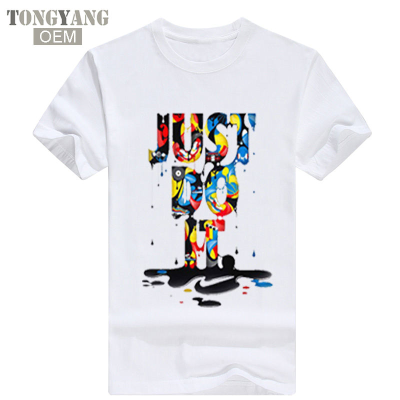 TONGYANG Wholesale New Fashion Just Do T-shirt It Hip Hop Letter Printing Men T Shirt Short Sleeve High Quality T-Shirt