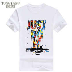 TONGYANG Wholesale New Fashion Just Do It T-shirt Hip Hop Letter Printing Men T Shirt Short Sleeve High Quality T-Shirt