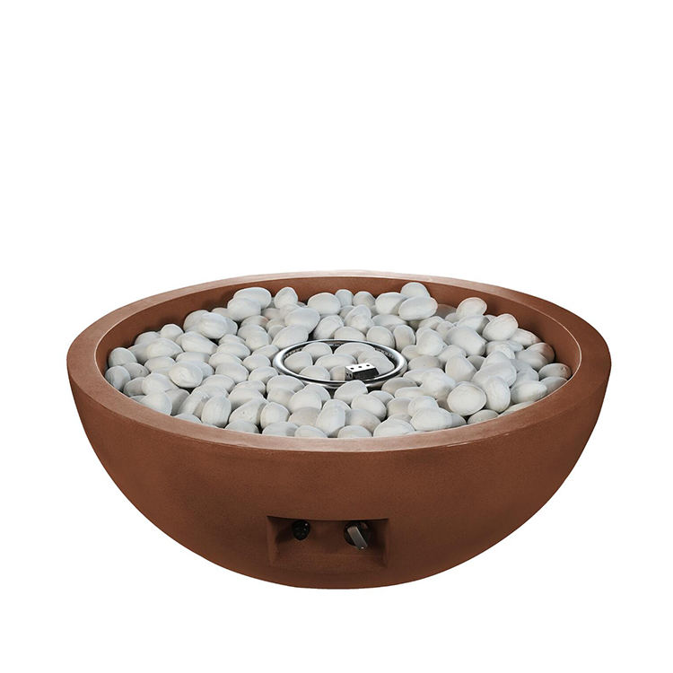 New-style-tabletop-outdoor-gas-fire-pit concrete+firepit+bowl fire bowl on column