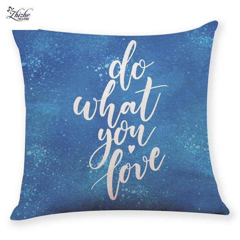 India styles letters printed colorful cushion covers ready to ship
