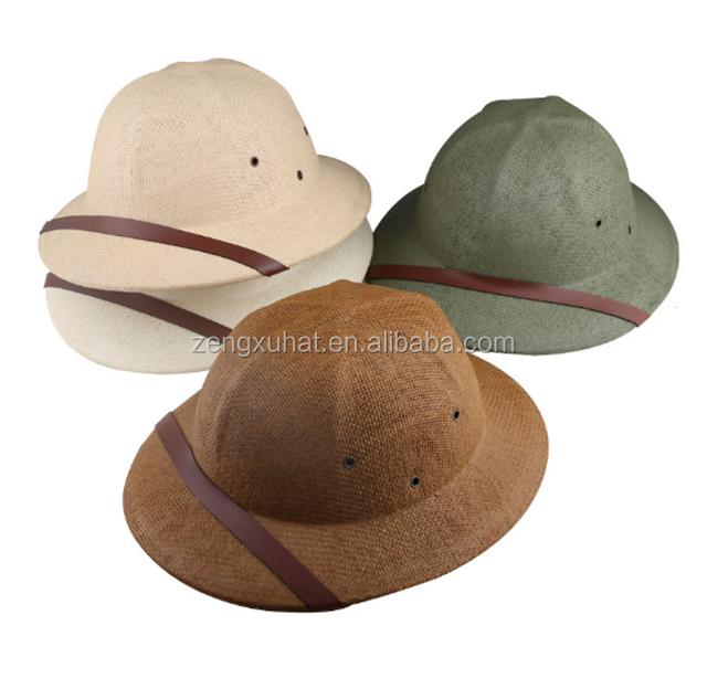 Herren Britische Armee Safari Dschungel Tropen Helm Kostüm Harte Sonne Hut Neu