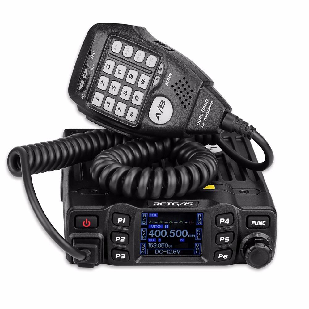 Retevis RT95 Mobile Radio Dual Band Transceiver VHF 136-174/UHF430-490 MHz 25W Color LCD Mobile Two Way Radio With DTMF Function