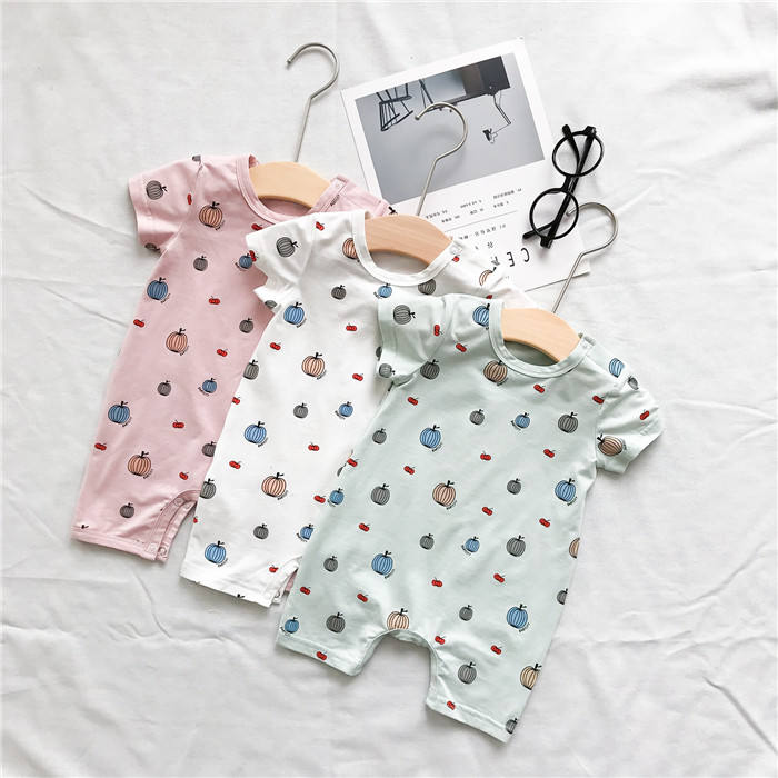China Baby Products Suppliers 100% Cotton Custom Print Baby Romper Toddler Clothing