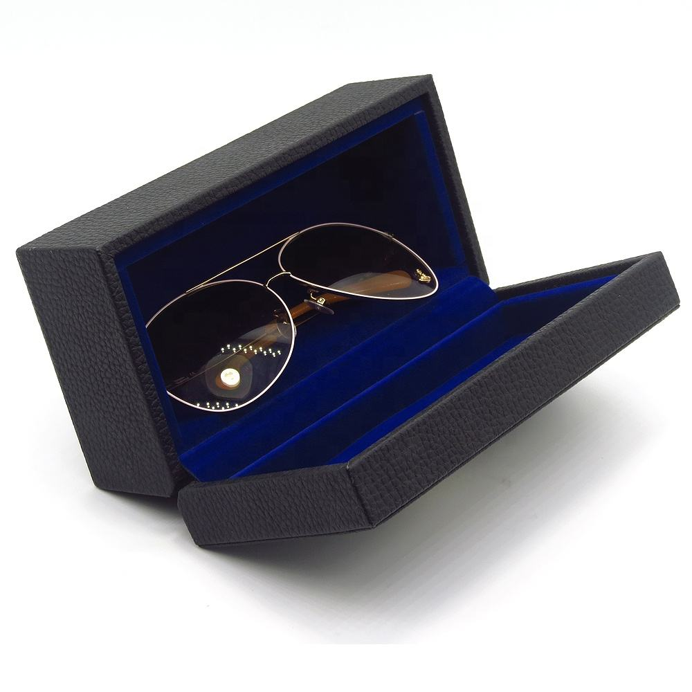 Personalized Custom Wooden Pu Leather Sun Glasses Box Display Case Sunglasses Boxes