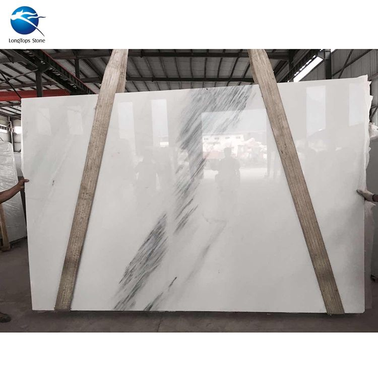 Factory Sale white jade black veins cheap white marble natural stone floor and tile