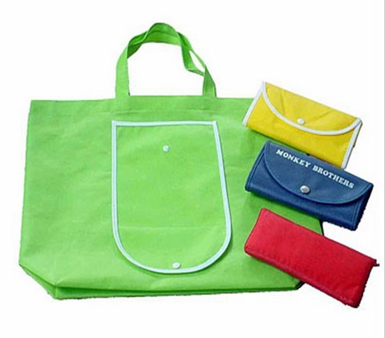Groene eco-vriendelijke aangepaste opvouwbare & draagbare non woven tote boodschappentas met sidepocket <span class=keywords><strong>China</strong></span> fabrikant