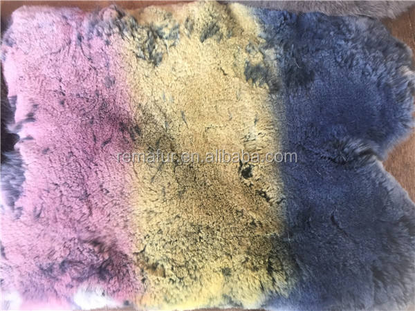 Natural Rex Rabbit Fur Skin Rex Rabbit Fur Piece Raw Pelt Many Colors Thick Soft Hairs