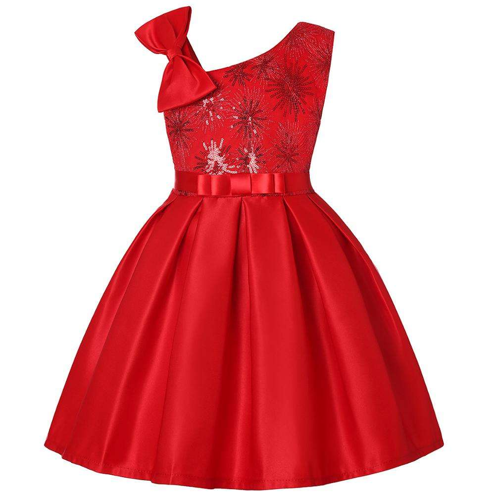 2020 New Arrival Princess Child Dress Red Sequin Dress For Dress Wedding Princess Party