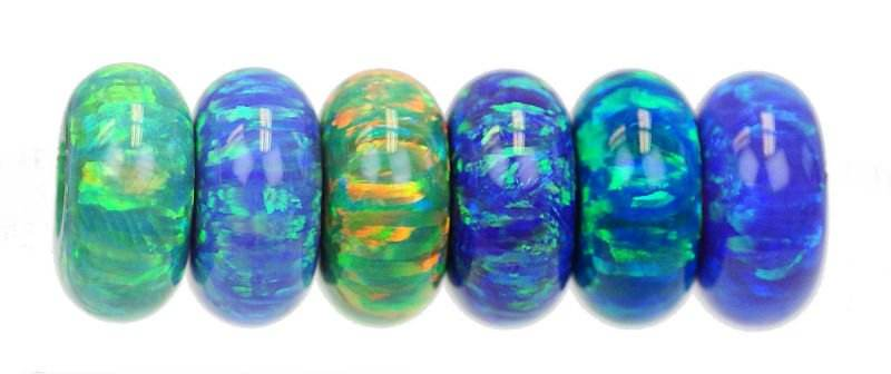 European gemstone beads for sale - Synthetic Opal , Roundle