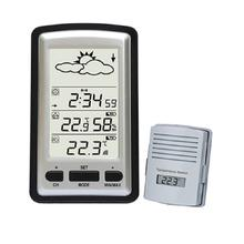 Large LCD Digital Wireless Weather Station Barometer With Remote Sensor