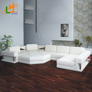 european lifestyle couch living room furniture,french style elegant white leather u sofa