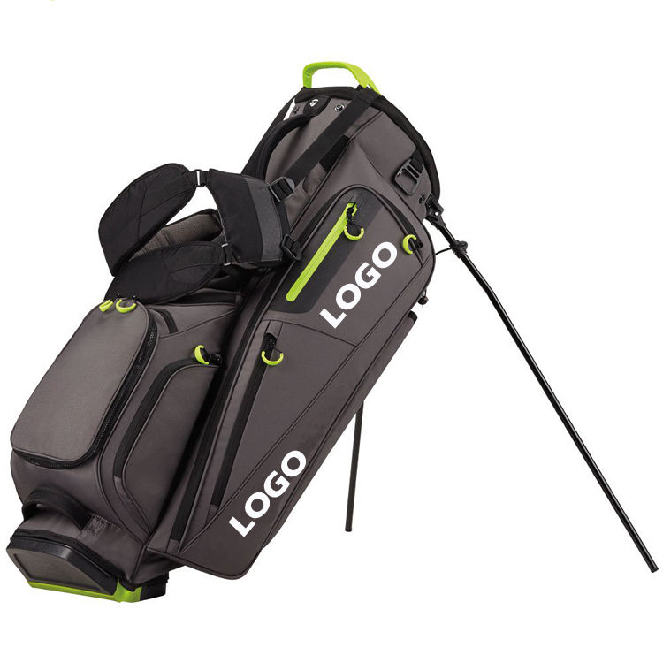 New Design Full length dividers Men golf stand bags 11 pockets Stand golf club Bags Customized your logo golf stand bag