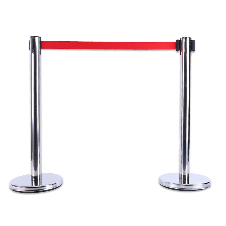 Zilver of Wit Outdoor Cafe Barrière Omvat Banners & Stanchions