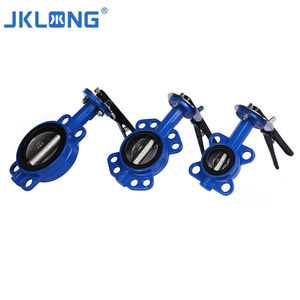 One Piece Body DN50-DN300 Cast Iron Wafer Center Line- Type Butterfly Valve