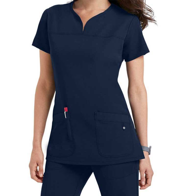 scrub- Polyester/Rayon/Spandex Fashionable Designs New Style Nurse Uniform