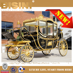 European Style Royal Aristocratic Luxurious Golden horse carriage Celebration Four Rounds Carriage (BG11-M054-2)