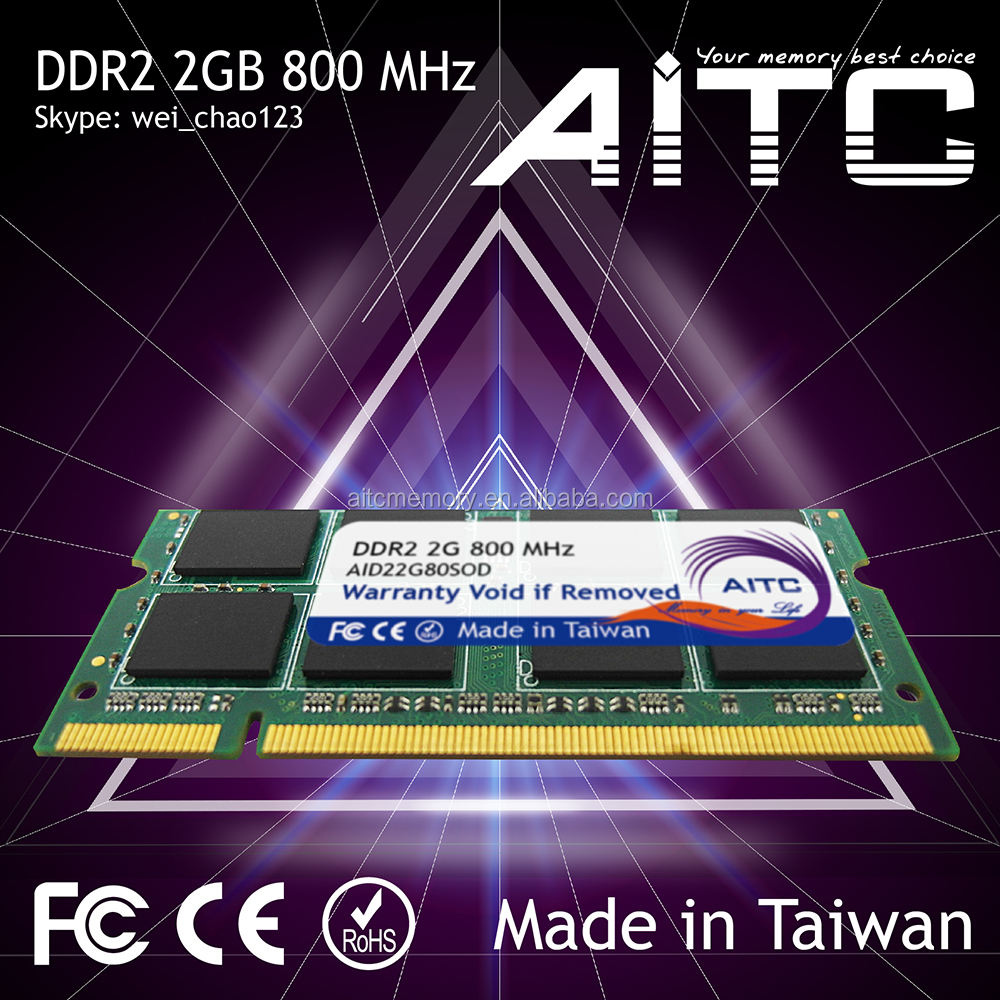 ベストセラーAITC800 mhz ddr 2 2gb ddr2 2gb ram for laptop nb memory