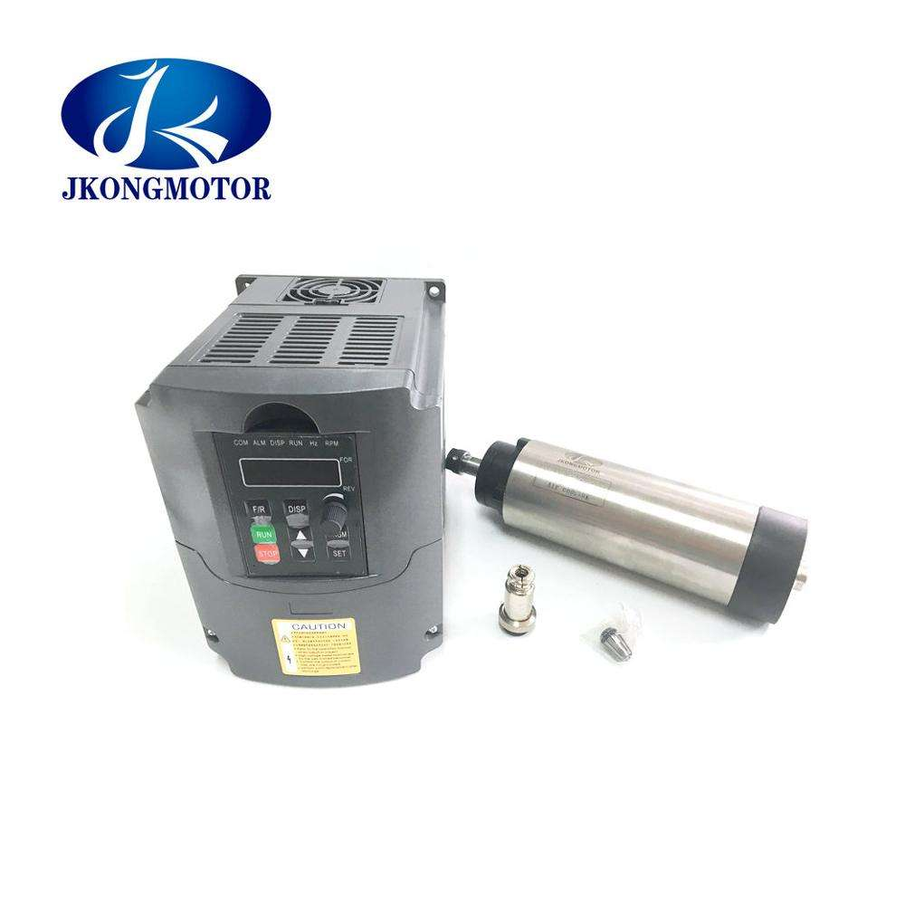 ER20 2.2kw Water Cooled AC Spindle Motor High Speed 0-24000rpm