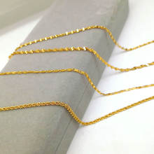 Beautiful female 24k gold plated alloy Gold chain jewelry necklace for women