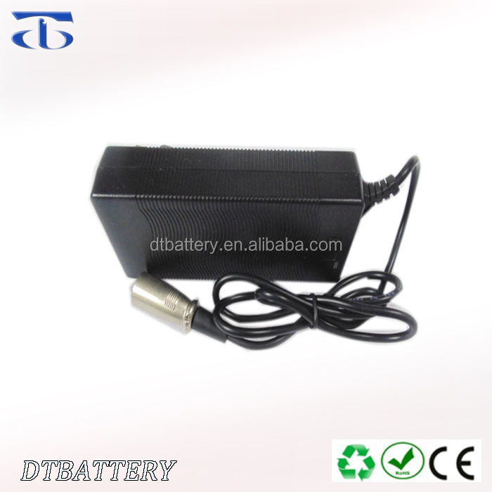 Plastic case 10 Series 42V Charger 2A 36V Lithium Battery Charger for E-bike, Electric Bicycle, Power tool