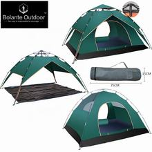 3-4 persons Pop up Outdoor Comping Tent 2019 new design Family quick Camp Tent double layers UV protected tent Yiwu Manufacturer