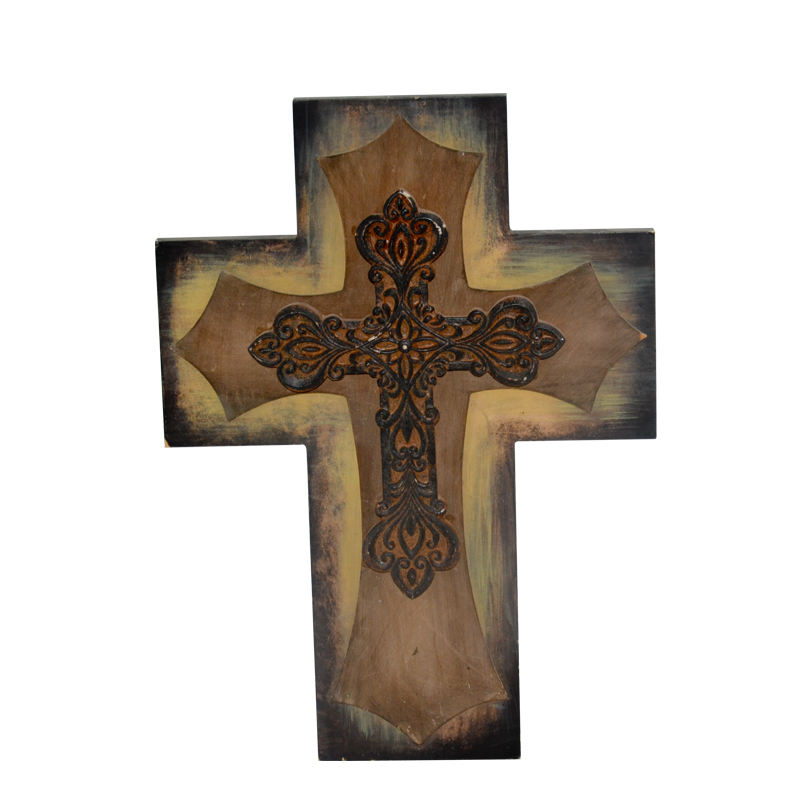 Cheap religious decorative hanging wall crucifix religious wooden cross
