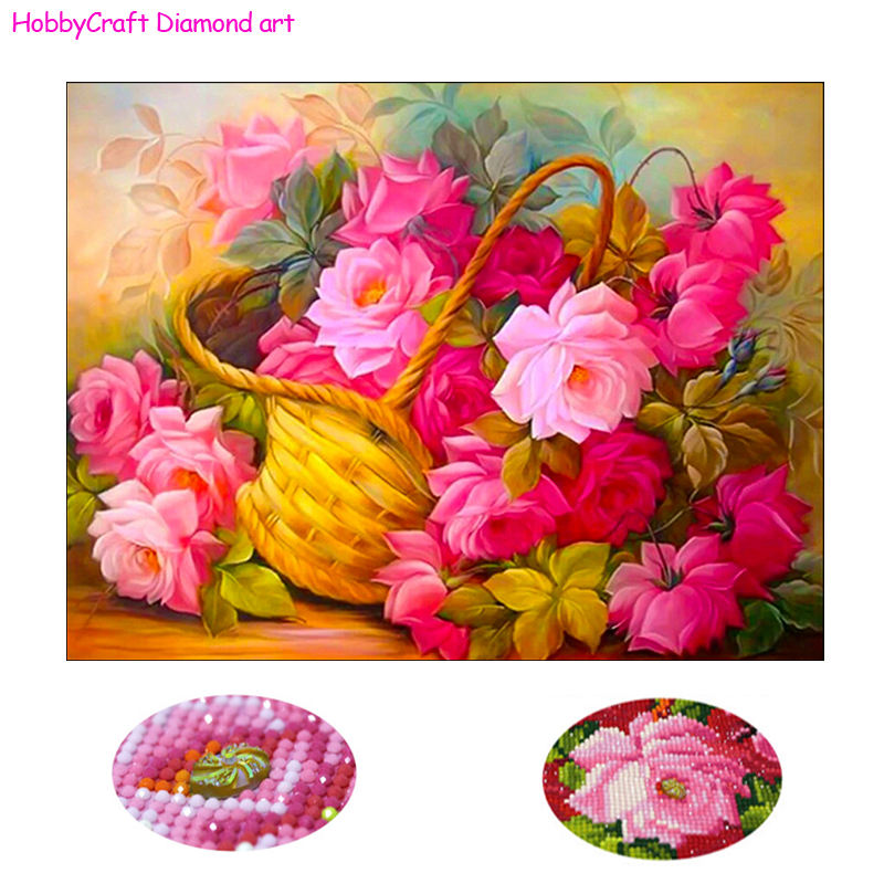 40x50cm size beantiful flowers diamond mosaic set