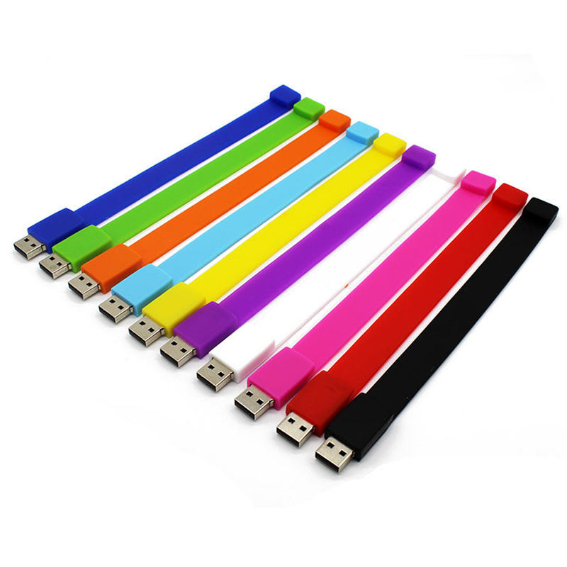 Gitra Bulk Cheap Silicon 8GB USB Flash Drives 4GB Silicon USB Bracelet/Wristband USB