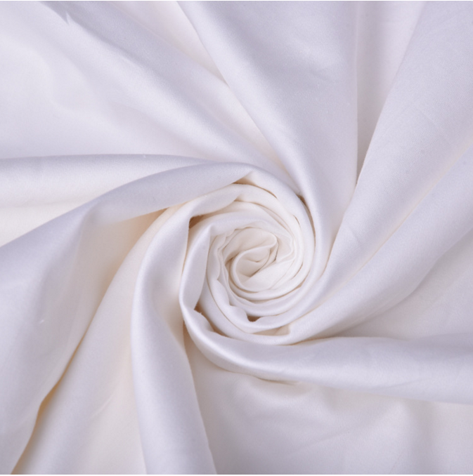 high quality white 280cm width 100% cotton sateen 400 thread count fabric for bed sheet in roll