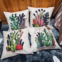 Factory price Cotton Linen Home Decorative Throw Pillow Case Set of 4 Cushion Cover