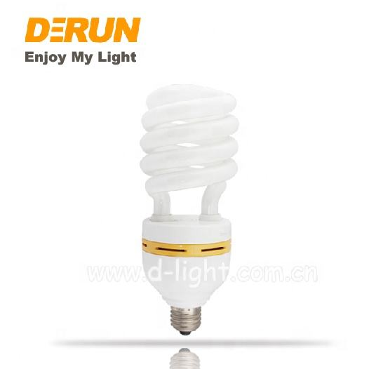 DC12~85V Low Voltage T3 E27 E14 25W 1500lm HALF SPIRAL CFL CE energy saving lamps half spiral energy saving bulbs , CFL-SPIRAL