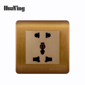 CE SAA CCC ISO9001 Rose Gold Standard Grounding wall 10a switch 3 three plug socket