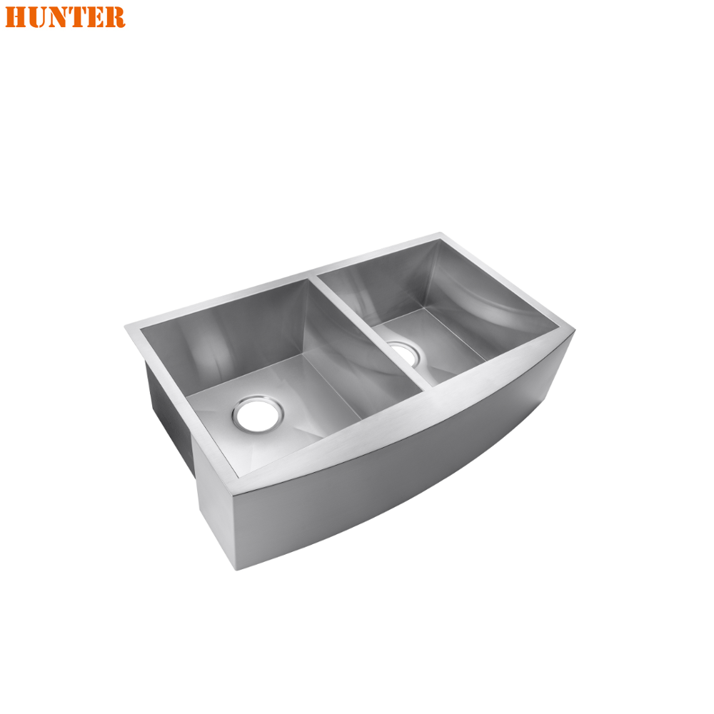 Luxury Home Handmade Double Drainer Stainless Steel Kitchen Sink