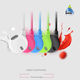 Best selling multi color earphone and braided cable earphone with mic