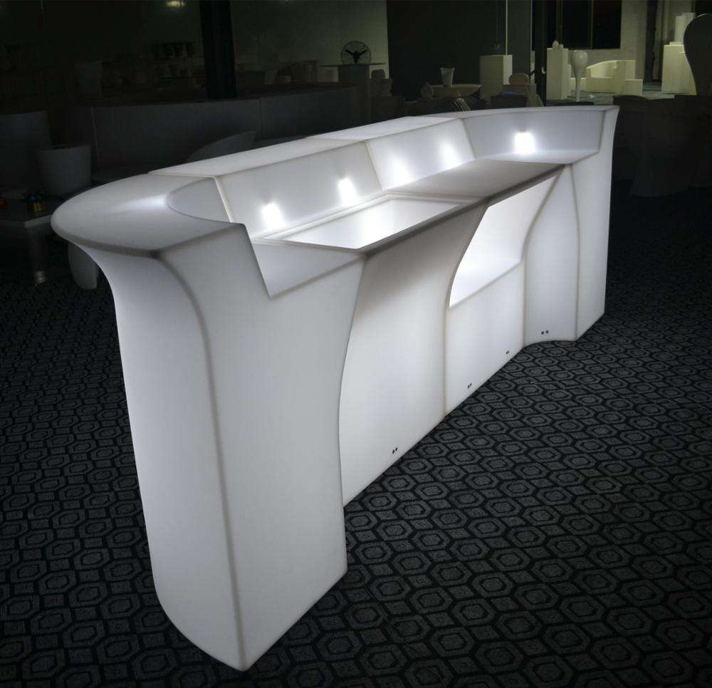 Custom made lounge acrylic party nightclub 16 color changing Illuminated led furniture bar counter