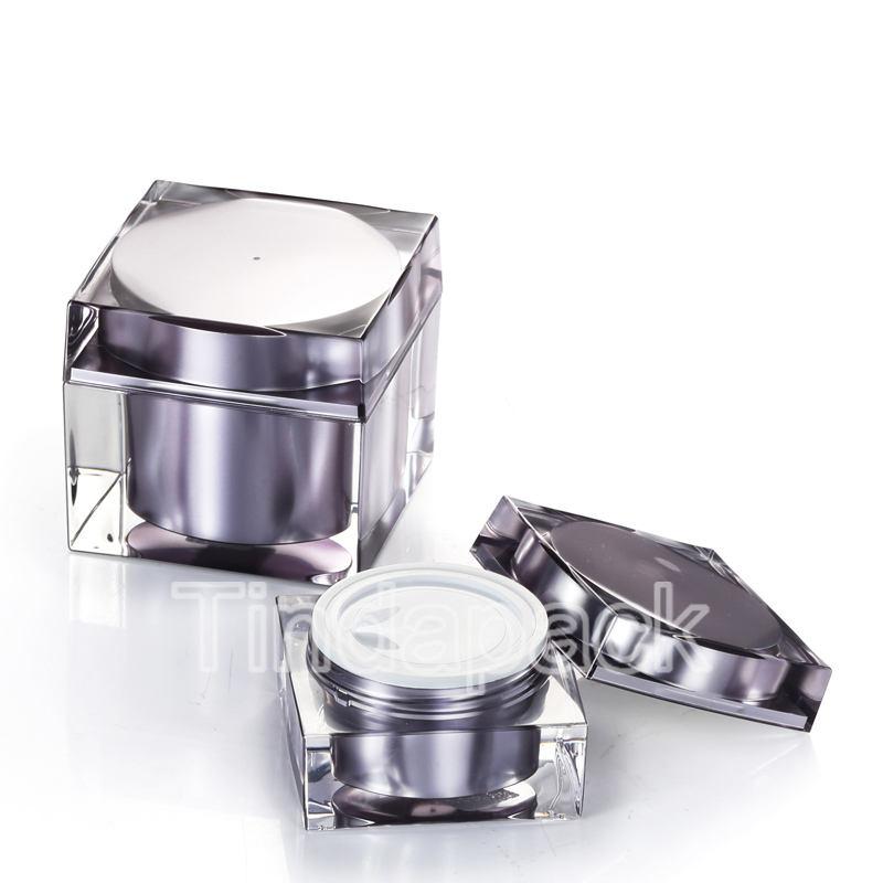 Argent Contenant cosmetique Vide,Pots en Aluminium,Pot en Aluminium,Bo/îtes Cosm/étiques Conteneurs Rondes