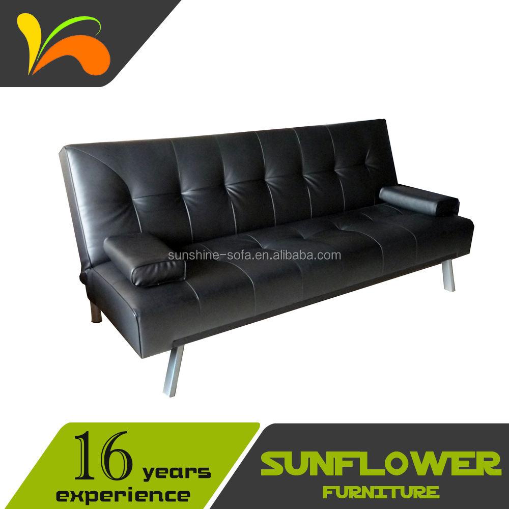 Venta caliente de cuero sofa cama clic clac muebles