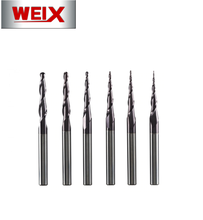 WEIX CNC milling machine  TiAlN coating  Tungsten Solid Carbide 4mm 6mm 8mm Ball Nose Tapered End Mills Router Bits cnc Tap