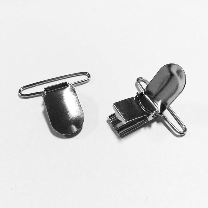 35 mm Nickel Plated Metal Pacifier Suspender Clip Garment Fastener Clip Wholesale 500 pcs/pack